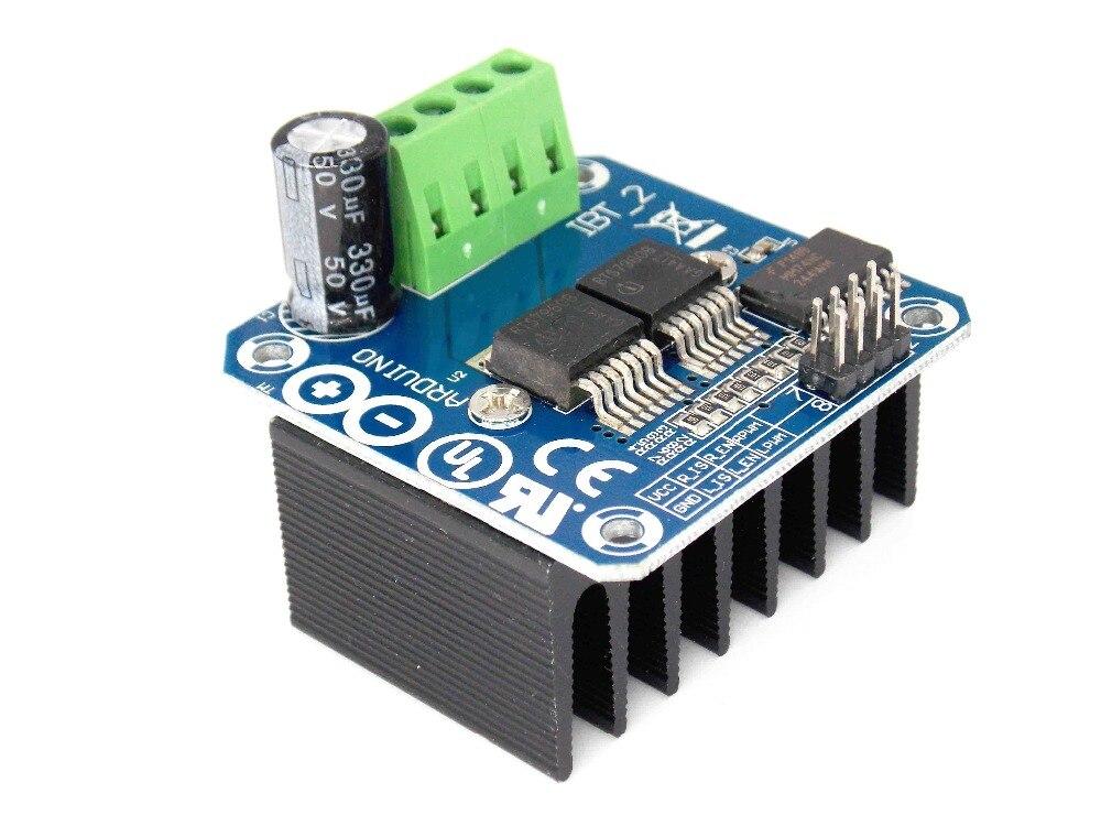 Double BTS7960 43A H bridge High power Motor Driver module diy smart car Current diagnostic
