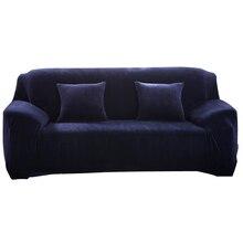 Simpe Solide Sofabezüge Sofagarnitur Fällen Stretch Elastische Flanell Stoff Couch Abdeckung Einzigen Zwei Drei Vier Sitze Hussen