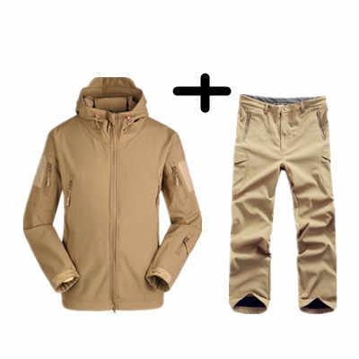 Lurker 상어 피부 소프트 쉘 TAD V 4.0 야외 군사 유니폼 전술 재킷 방수 양 털 사냥꾼 Windproof 옷