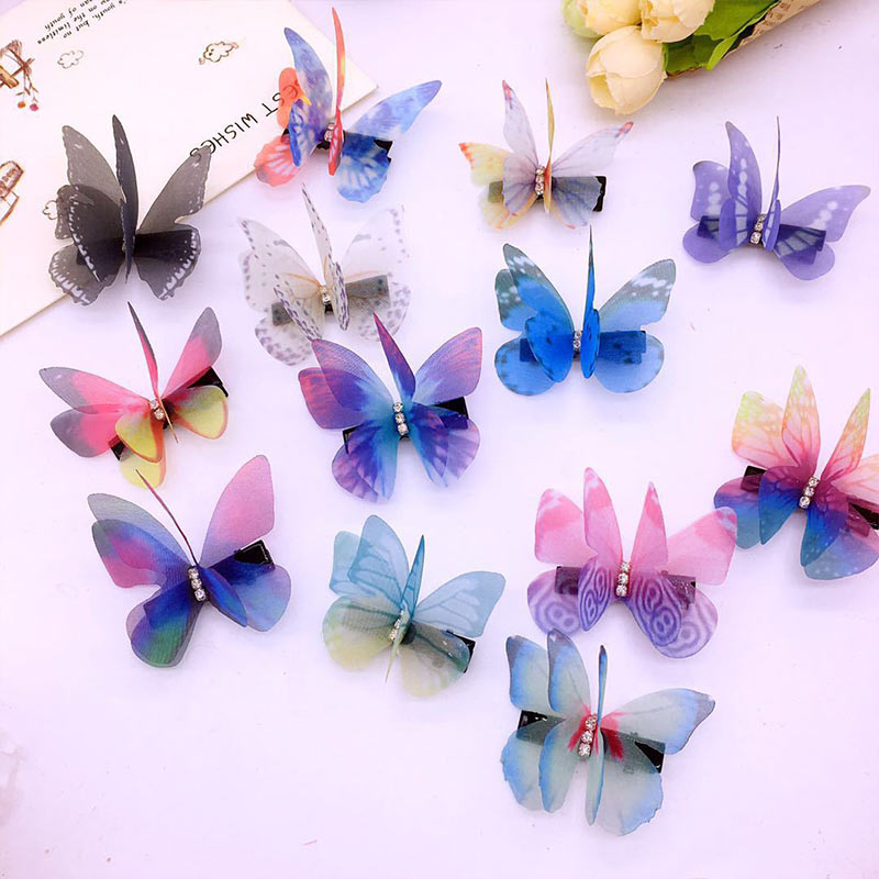 Butterfly Hairpin High Quality Hot Sale Barrettes Women 1PC Hair Accessories Colorful Hair Clips Girls Headwear Cartoon
