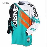 2019 MX MTB ansr bmx для мотокросса из ткани Джерси Спортивная футболка для скоростного спуска рубашка ropa mujer Майо велосипедная майка hombre велосипед ...
