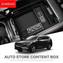 ZUNDUO casella bracciolo centrale Dell'automobile Per MAZDA CX-8 CX-9 2016-2019 CX8 CX9 2017 2018 Accessori Interni Stivaggio Riordino NERO