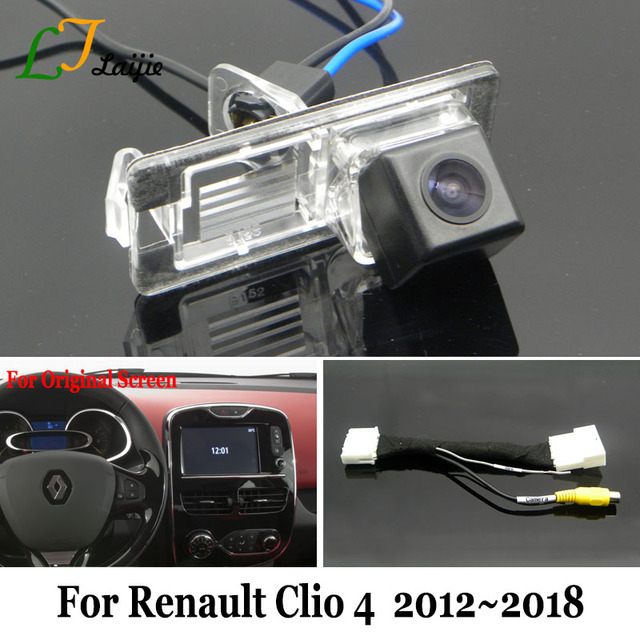 US $36 75 25% OFF Laijie Rearview Camera With 24Pin Adapter Cable For  Renault Clio 4 IV / OEM Monitor Compatible HD Car Camera Reverse Camera-in