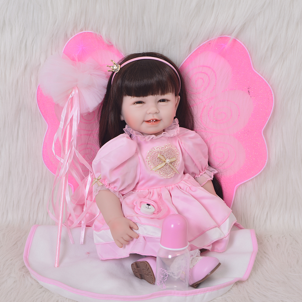 Realistic Princess 22 Inch Reborn Baby Dolls Soft Silicone Vinyl Baby Lifelike Boneca Reborn 55 cm Doll Model For Kids PlaymatesRealistic Princess 22 Inch Reborn Baby Dolls Soft Silicone Vinyl Baby Lifelike Boneca Reborn 55 cm Doll Model For Kids Playmates