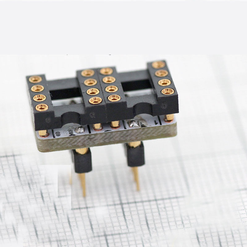 5PCS Dual SOIC to DIP-8 Convert PCB Adapter SMD OPA627 gold-plated