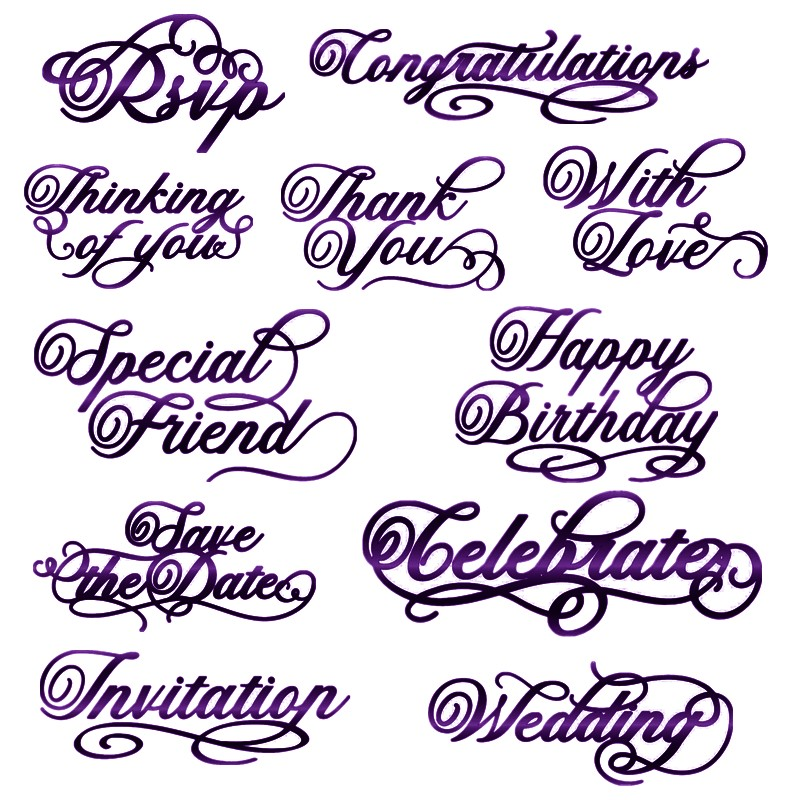 Special Friend Thank You Wedding Invation Just For You Phrases Metal Cutting Dies For DIY Scrapbooking Cards Crafts 2019 New
