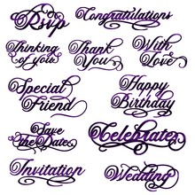 Special Friend Thank You Wedding Invation Just For Phrases Metal Cutting Dies for DIY Scrapbooking Cards Crafts 2019 New