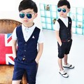 2016 Summer  Baby Suit Gentleman Boys Clothing European Style Baby Boy Formal Dress Wedding Suits Birthday Party Costume