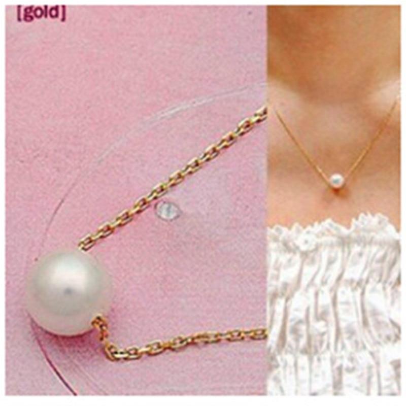 女装优雅仿珍珠吊坠项链锁骨短项链首饰时尚项链x3 wavefun xpods 3