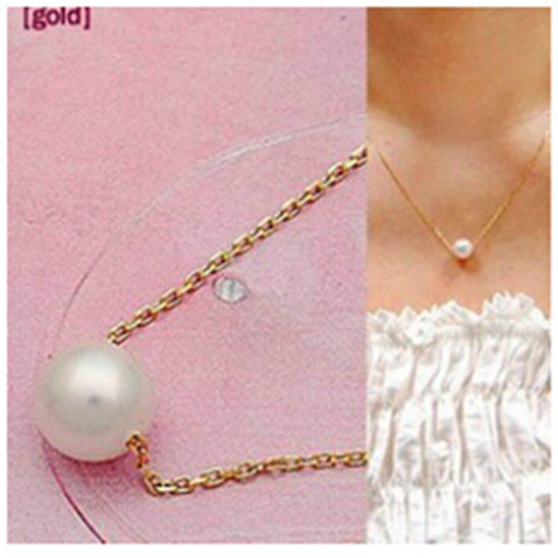 x3 Hot Sale Elegant Lady Fashion Imitation Pearl Pendant Necklaces For Women Concise Clavicle Chain Necklaces Excellent Jewelry