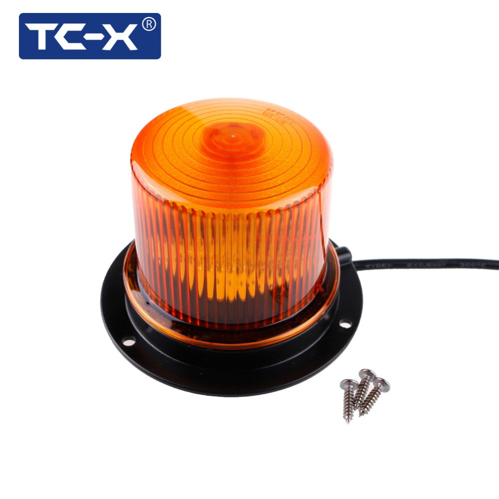 TC-X Amber LED Warning Lights Medium Magnetic Mounted Vehicle Police LED Flashing Beacon Strobe Light Emergency Lighting Lamp ...