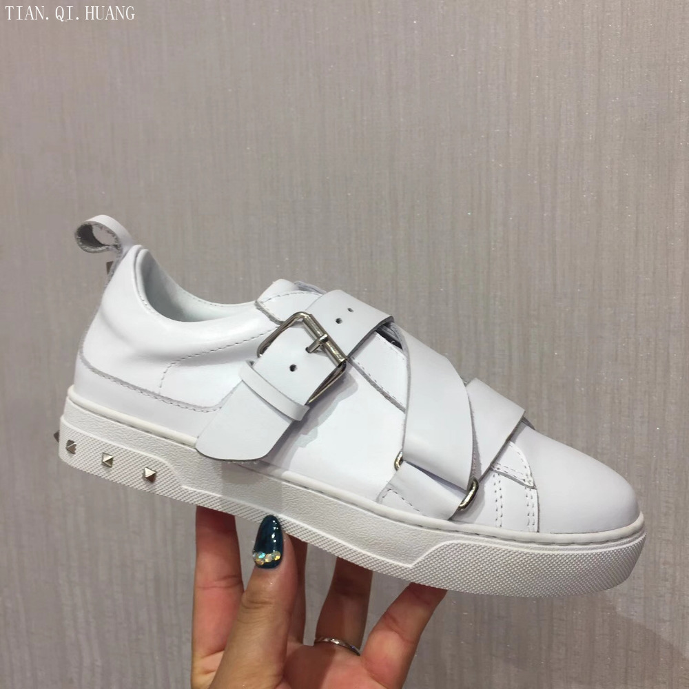 2018 New Style Classic Fashion Design Woman Casual Shoes High Quality Brand Genuine Leather Shoes TIAN