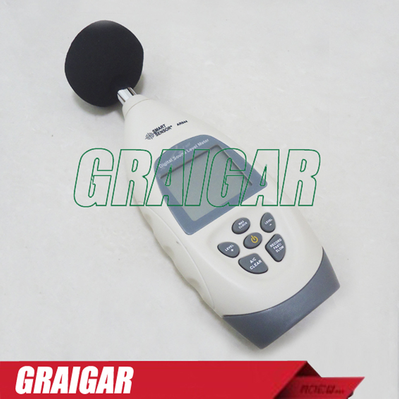 Smart Sensor AR844 Digital Sound Level Meter Sound Noise Level Meter with Software&USB Cable 30~130dB +Carry BOX