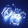 2x 33Ft 100 fio de prata branco fresco luzes cordas de fadas branco brilhante ultra fino lua de fadas twinkle Natal ao ar livre indoor tira