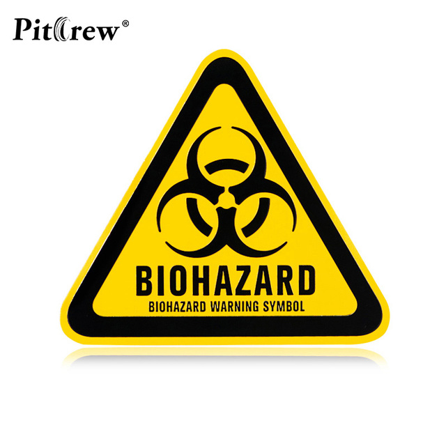 Resident Evil Logo Metal Sticker Custom Text Personalized Stereo