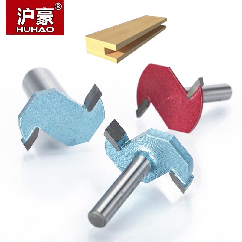 "HUHAO 1 stks 1/2 ""Schacht T type sleuvenfrees Industriële Grade 2 Fluitfrezen voor hout houtbewerking tool frees"