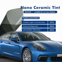 1.52x30 м темно серый УФ изоляции окна автомобиля Оттенок Плёнки VLT 35% 2 слойные солнечной защиты Плёнки kr35100