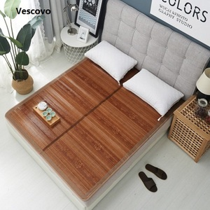 Image 2 - Vescovo Cool summer senior mattress Double sided folding wrapping1.3/1.5/1.8/2.0m 100% Pure natural bamboo mat