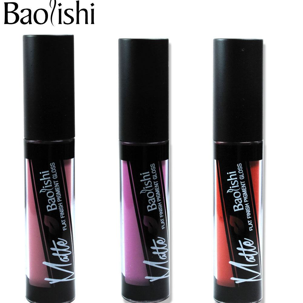 baolishi 1pcs Brand velvet Lip Gloss Waterproof matte Color drys quickly Long Lasting liquid lipstick Makeup 3