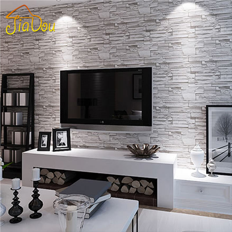 Buy country vintage stone brick for Wallpaper pvc 3d