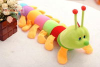 Super Wholesale 50cm Colorful Caterpillar Y2K Doll Plush Toy Large Caterpillar Pillow Baby Pillow Free Shipping