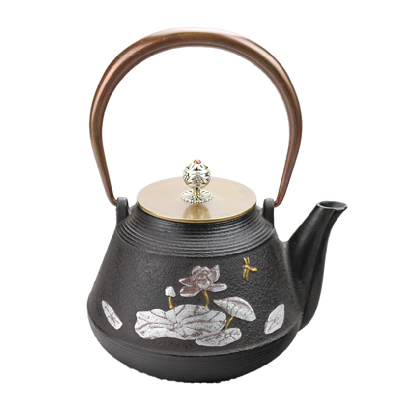 Permalink to Drinkware 1.2L Southern Japan Cast Iron Tea Pot Lotus Kettle Japanese Kung Fu Teapot Creative Kettle