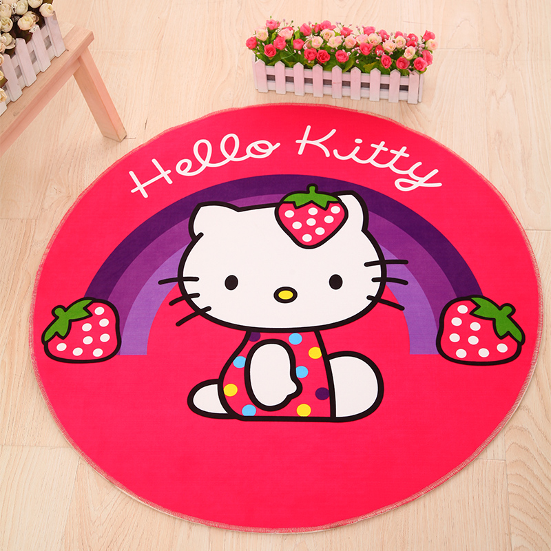 Cartoon Kitty Large Rugs Gift Round Carpets Area Rug For Living Room Computer Chair Sofa Table Bedside Carpet Outdoor Floor Mat in Mat from Home Garden