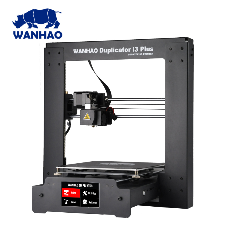 2018 Wanhao Duplicator I3 PLUS Mark II touching LCD screen 3D color Printer Machine PLA ABS Filament,High quality printer wanhao duplicator i3 plus 3d принтер