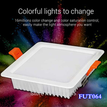 New arrival milight 9W RGB+CCT Square LED Downlight smart Indoor living room light AC 220V Mobile phone control remote