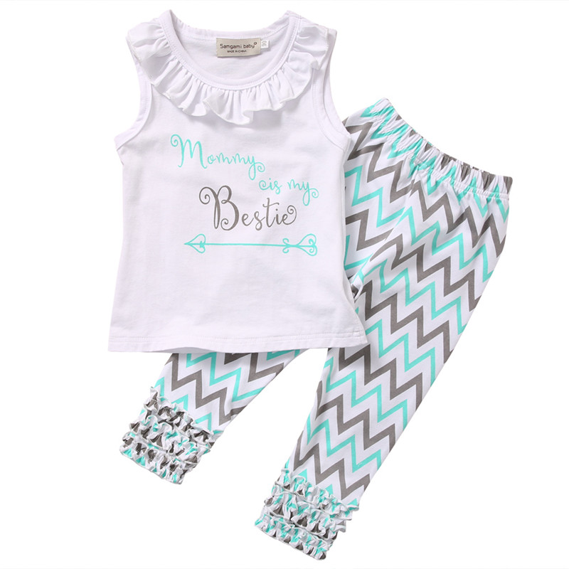 New Model Style Bestie Children Toddler Women Garments Summer season Sleeveless Tops Pants Outfits Child Clothes Set 1-6T clothes units, toddler woman garments, women garments summer season,Low-cost clothes units,Excessive...