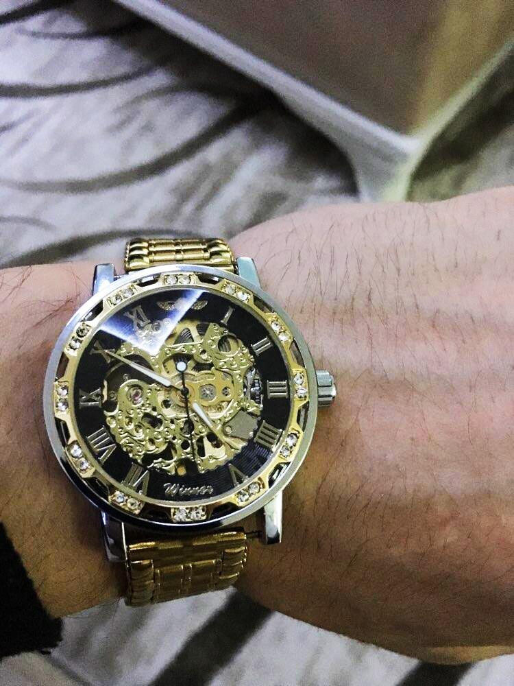 HTB1wblcXRWD3KVjSZKPq6yp7FXah Winner Black Golden Retro Luminous Hands Fashion Diamond Display Mens Mechanical Skeleton Wrist Watches Top Brand Luxury Clock