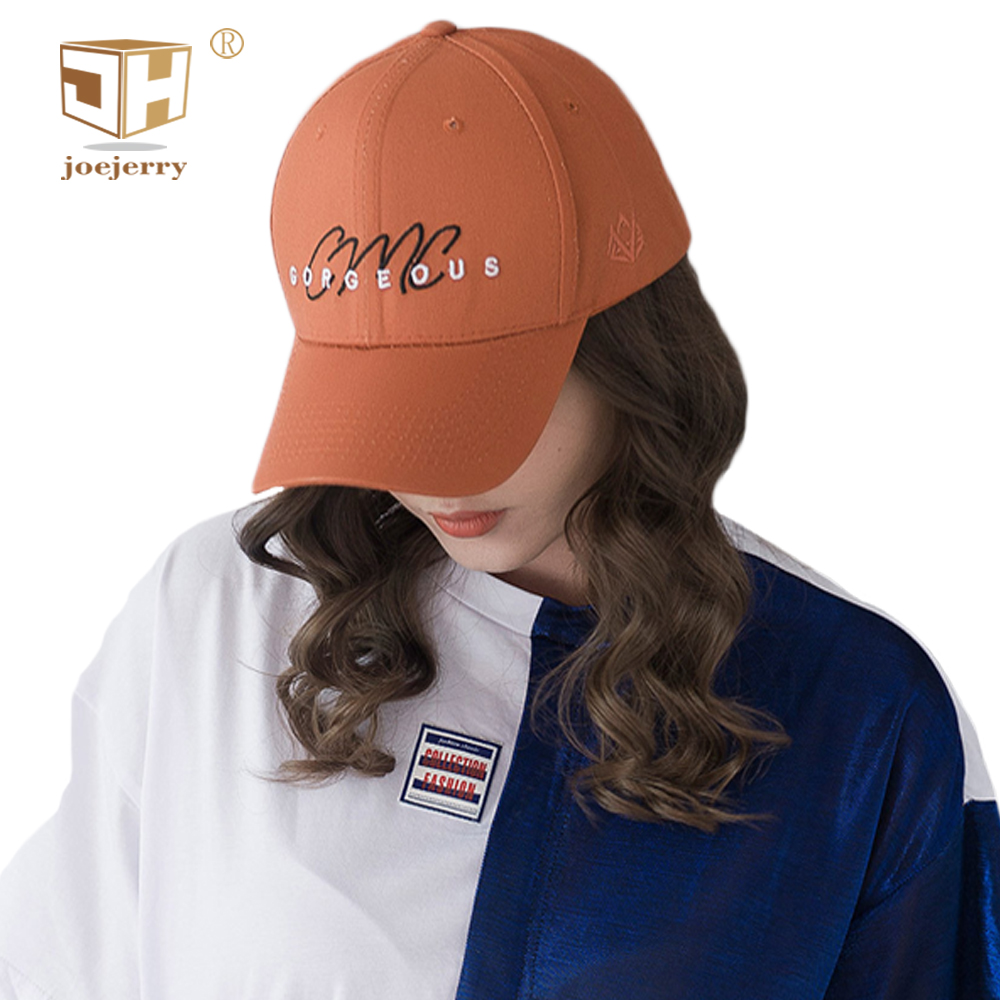 JOEJERRY Embroidery Letters Baseball Cap Women Youth Cotton Snapback Caps Orange Black W ...