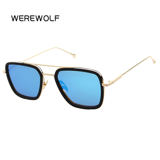 2017 D Square Sunglasses Men Gold Retro Sun Glasses Women Brand Designer  Vintage Glasses Oculos De sol Female Gafas Alloy gozluk 94b39192e5