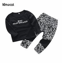 Kimocat Boys Clothing Set 2pcs Autumn Spring Infant Clothes Long Pants Outfits Set Clothes New Adorable Baby Girls Boys Suits 2018 back to school outfits autumn kids clothing set girls clothes set children clothing suits long sleeve denim shirts jeans