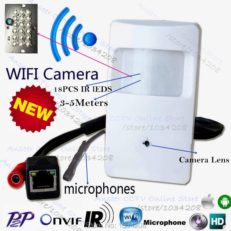 2,0 МП 1080 P Pir WI-FI ИК Камера детектор движения Pir Пинхол Камера Pir Стиль Ip Камера тайное ПИР IP Камера микрофон