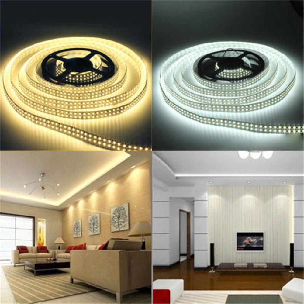 5 м/рулон RGB теплый холодный белый желтый гибкий 3528 Водонепроницаемый Светодиодные ленты Lights 300 светодиодов 60 светодиодов/M bande светодиодная ...