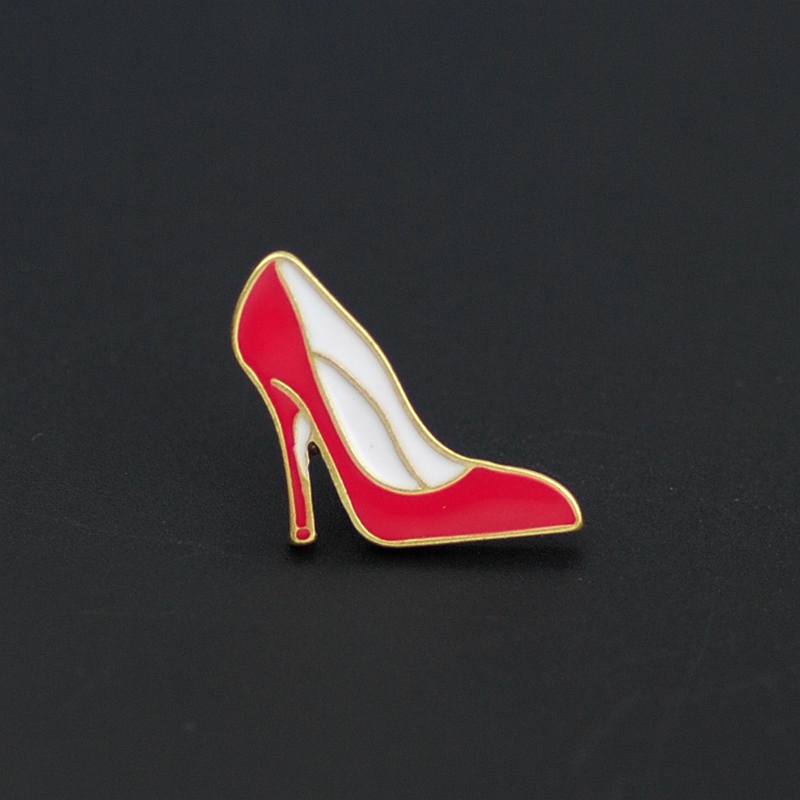 1PC Alloy Enamel Brooches Heart High Heel Lipstick Badge Brooch Pin Cute  Lapel Pins Funny Women Collar Clothing Accessories In Brooches From Jewelry  ...