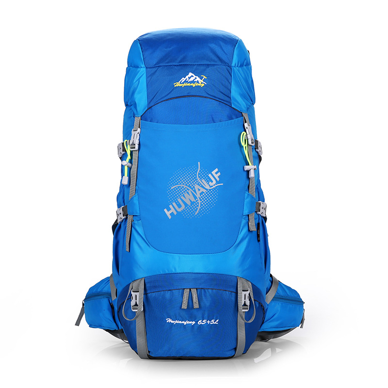 70L Waterproof breathable Climbing Hiking Backpack Rain Cover Bag Camping Mountaineering Backpack Sport Outdoor Bag