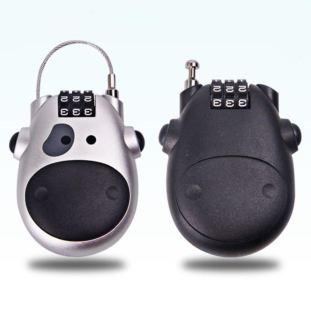 Mini Mechanical Password Padlock Suitcase Luggage Cabinet Door Metal Code Lock Retractable Bike Motorbike Helmet Lock