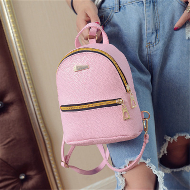 NIBESSER Fashion Women Backpacks Women PU Leather Backpacks Girl Mini Backpack School Ba ...