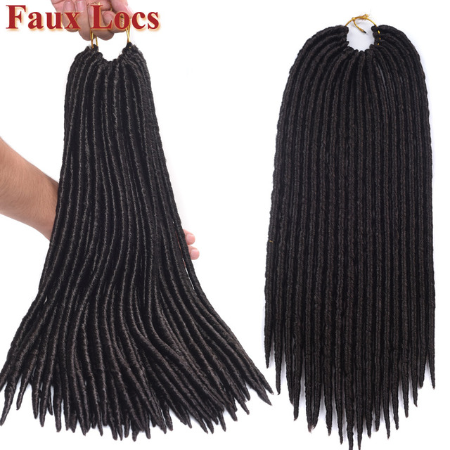 For Black Women Goddess Faux Locs Crochet Hair 12 Inch 18 Inch Afro