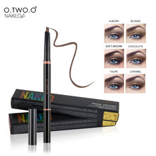 O.TWO.O  1pcs Waterproof Eyebrow Automatic Pencil Ladies Brow Eye Definer with Eyebrow Brushes Tools Maquillage 6 Colors