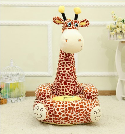 High Quality Kids Giraffe Plush Stuffed Sofa Giraffe Soft Stuffed Stool innovation Sofa Factory Supply цена 2017