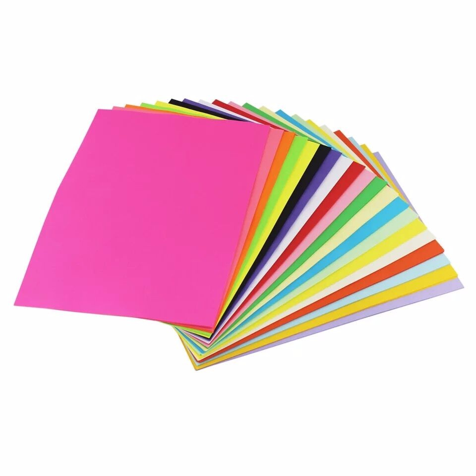 100 Sheets 80G  Color A4 Copy Uncoated Paper  Mix Colour Can Be Choose