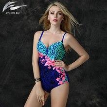 2016 del verano más el tamaño del traje de baño estampado de leopardo traje de baño de una pieza del traje de baño empuja hacia arriba biquini vestido de verano para mujeres plus body