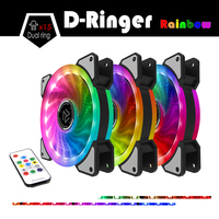 ALSEYE RGB Fan 120mm Cooler Computer Fan Dual LED Ring Multicolor Fans For PC Remote Control