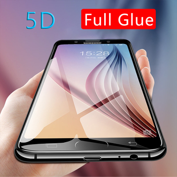 5d full glue tempered glass for samsung a3 a5 a7 j3 j5 j7 2017 case protective screen protector phone safety tremp on the galaxy image