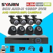 Дома Детская безопасность 8ch полный 1080 P 8-канальный 2.0mp CCTV Системы HD AHD DVR 2500tvl 1080 P наружного видеонаблюдения камера комплект