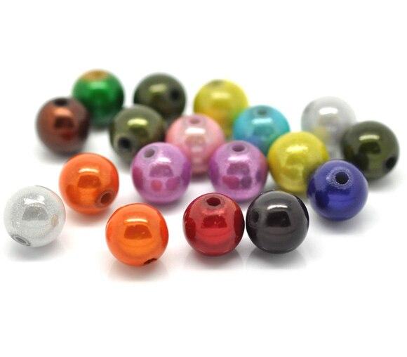illusion acrylic beads hole size 40 yellow round miracle 1.8mm 8mm