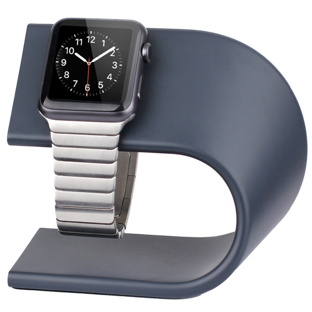CRESTED Dock Station Stand For Apple Watch 4 3 2 1 Iwatch 42mm/38mm Aluminum Holder Charger Charging Cradle Bracket HIGH QUALITY smart watch charger cradle with usb charging cable for huawei watch 1 band power charge dock station magnetic charger for huawei